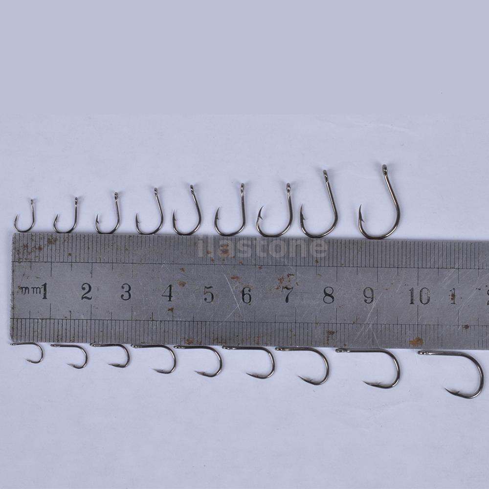 600pcs 10 Sizes Assorted Circle Fishing Hooks Lures Baits ... - photo#14