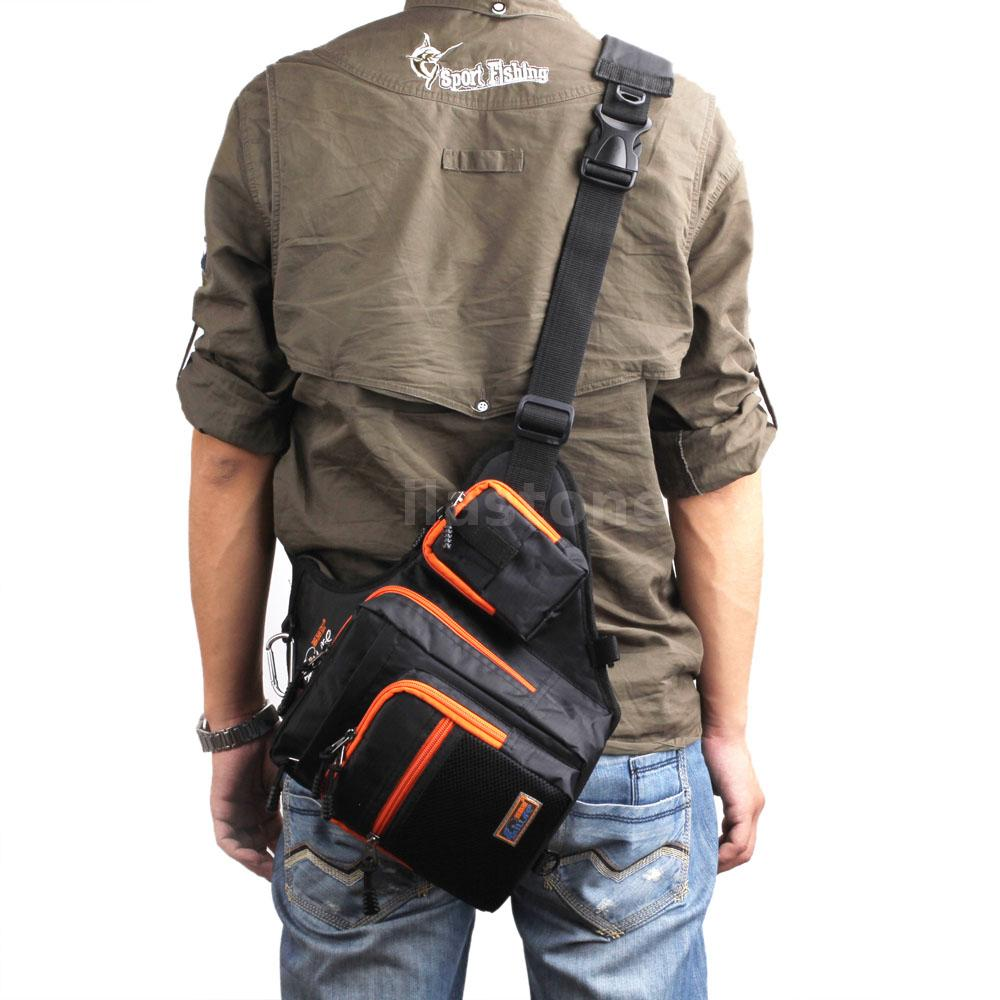 Waterproof fishing tackle bag pack shoulder waist box lure for Fishing waist pack