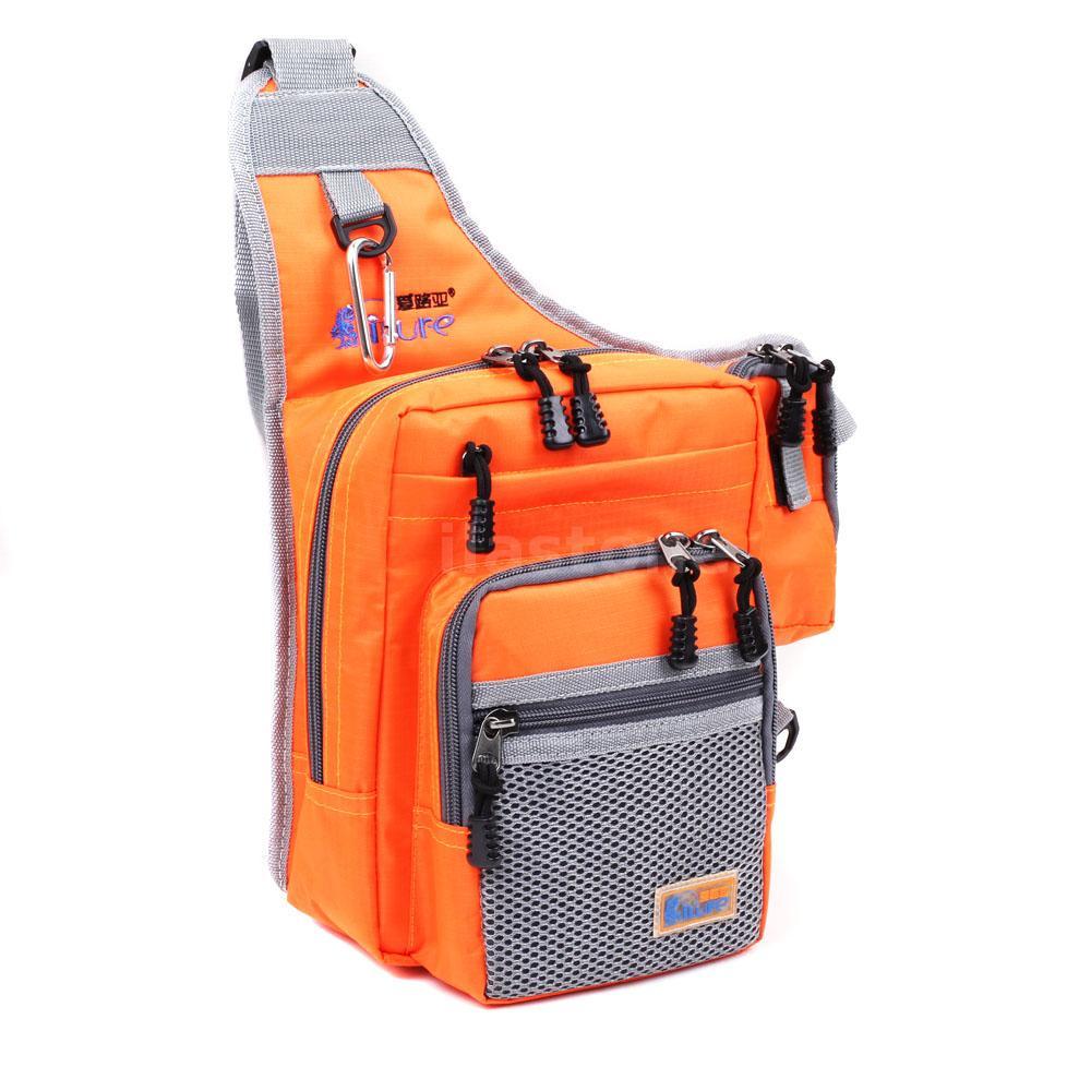 Waterproof fishing bag canvas reel lure tackle bag for Fishing backpack tackle bag