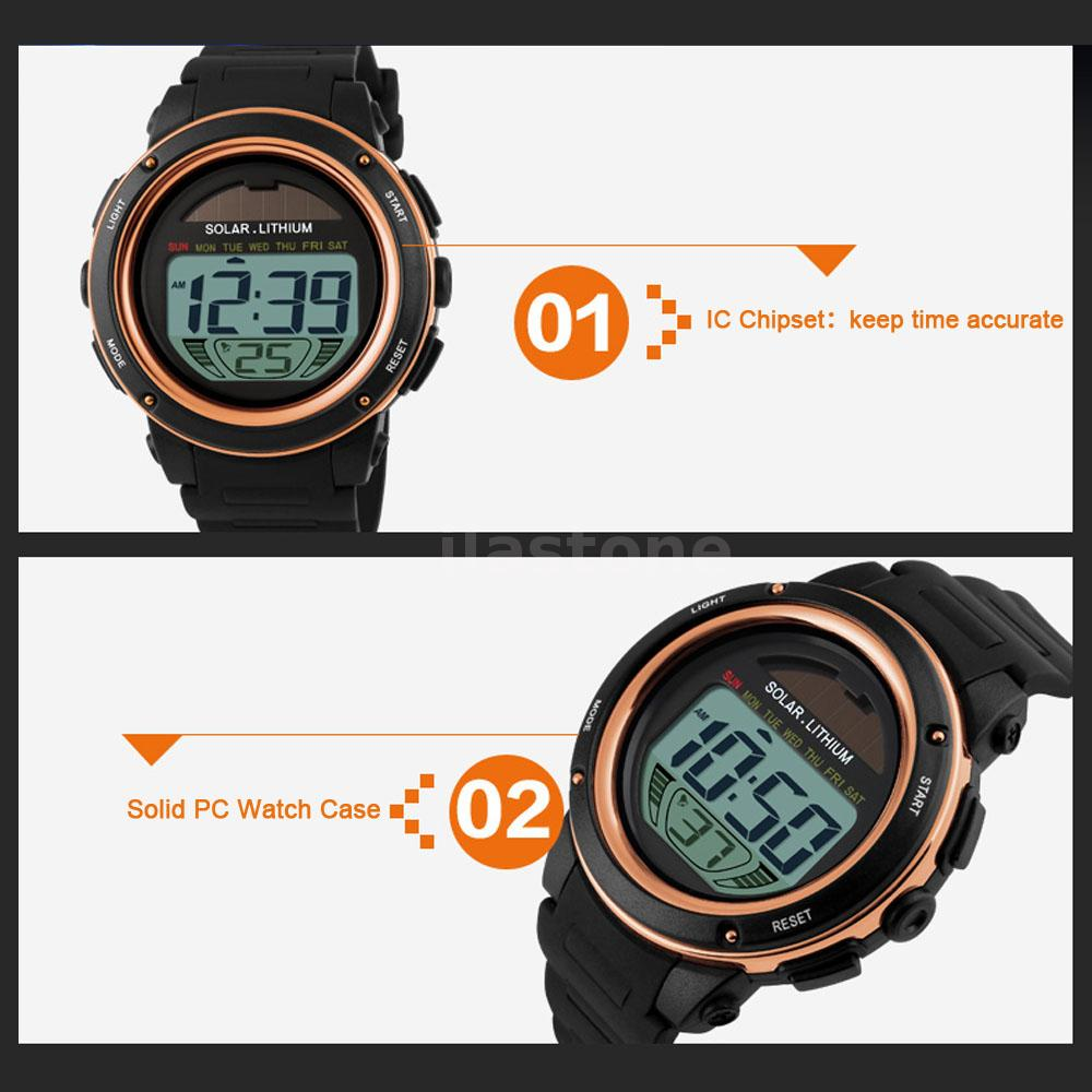 skmei watches waterproof solar outdoor sport led army