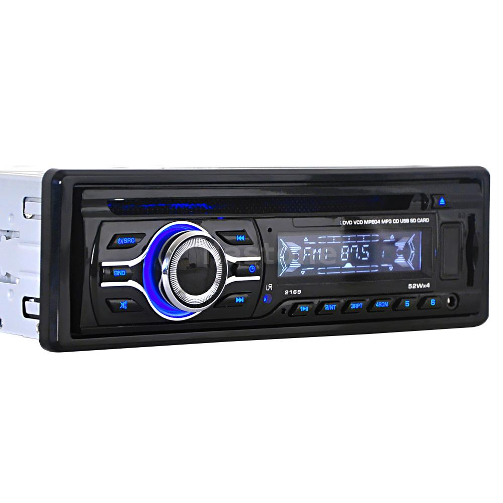 universal car cd dvd mp3 player stereo radio in dash fm aux input support sd usb ebay. Black Bedroom Furniture Sets. Home Design Ideas