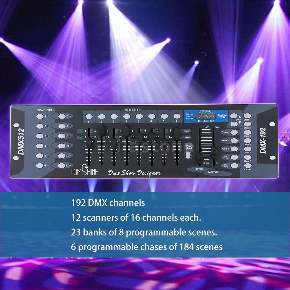 dmx board dj party led stage lighting controller 192ch transmitter wireless c1u4 ebay. Black Bedroom Furniture Sets. Home Design Ideas