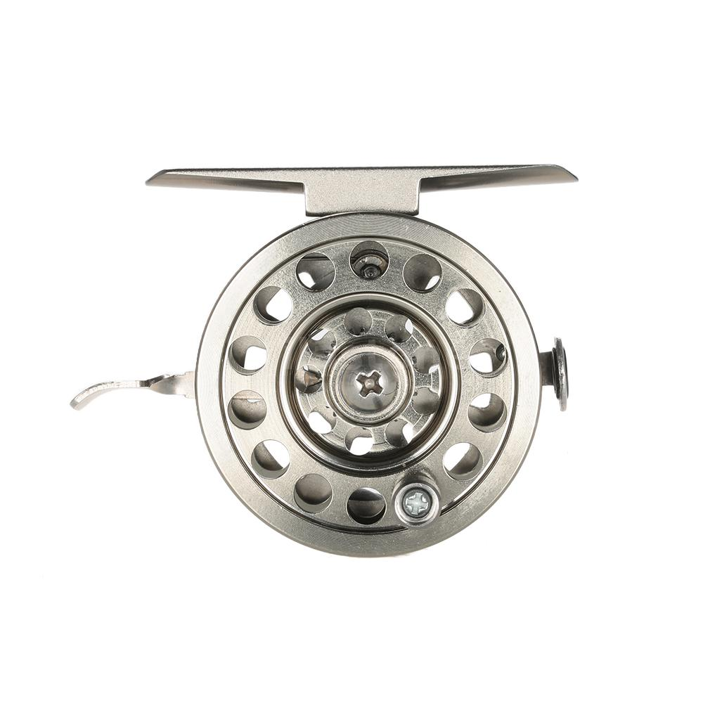 Fly fishing reel right handed aluminum smooth rock ice for Fly fishing reels ebay